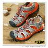 热衷于热衷于 WMN 耳语运动凉鞋耳语妇女中性灰色/辣橙色 (1008455 SS13)