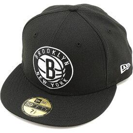 国内正規品 NEWERA ニューエラキャップ NBA 59FIFTY フィフティーナインフィフティー BRONET BROOKLYN ブラック 189d90880694