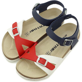 TATAMI tatami tatami mats kids Sandals Kids Amur Amur ( ビルコフロー ) red / blue / white さんだる ( BM815033 ) /BIRKENSTOCK Birkenstock fs3gm