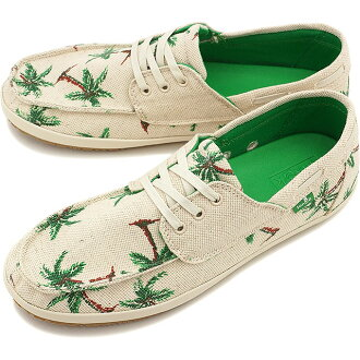 Sanuk sanukumenzusunika MORTIMER莫蒂默甲板鞋NATURAL/PALMS(SMF10368-NPMS SS15)