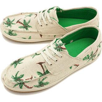 Sanuk Sanuk men's sneakers MORTIMER Mortimer deck shoes NATURAL/PALMS (SMF10368-NPMS SS15)