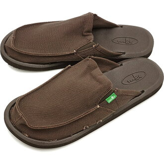 Sanuk sanukumenzu YOU GOT MY BACK 2 BASICS yugottomaibakku 2 BASIC煤塵嘴唇開DARK BROWN(SMF10561-DKB SS15)