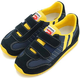 【シーズン限定】パトリック スニーカー PATRICK インファント 靴 MARATHON-V キッズ マラソン・ベルクロ NVY EN7702 SS15 日本製 sneaker