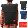 Manhattan PortageマンハッタンポーテージバッグGramercy Backpack背包(帆布背包日膜面护肤)BLACK(MP1218)(Manhattan Portage)