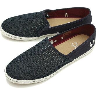 弗雷德 · 佩里 Fred Perry 运动鞋男装金斯敦镇压金斯敦 STAMPDOWN 网网滑条每瓷海军 (B6251-608 SS15)