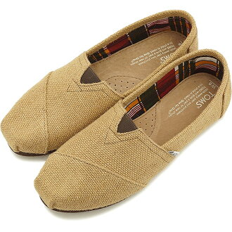 TOMS汤姆鞋女士懒汉鞋WOMENS-ORIGINAL CLASSICS原始物古典Burlap(001004B07 SS15)