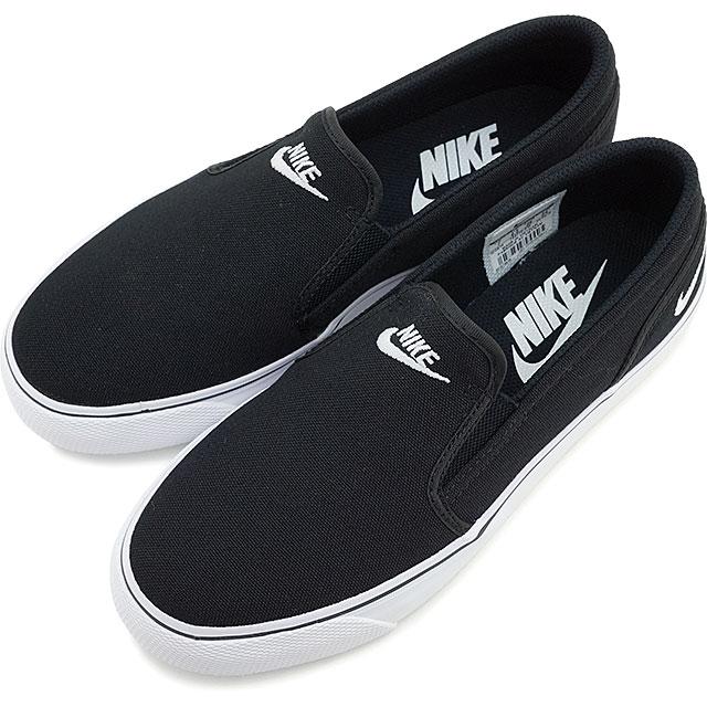 【即納】NIKE ナイキ レディース スニーカー 靴 WMNS TOKI SLIP CANVAS ウィメンズ トキ スリップ キャンバス ブラック/ホワイト (724770-010 SU15)