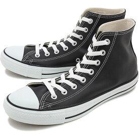 コンバース レザー オールスター ハイカット CONVERSE LEA ALL STAR HI ブラック 靴 [32044991][e]