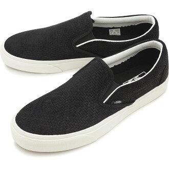 客貨車貨車易穿式運動鞋男裝女裝經典滑經典滑 (編織麂皮絨) 黑 (VN0003Z4INY SS16)
