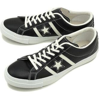 匡威匡威男式女式运动鞋明星 & 酒吧皮革星 & Byrds 皮革黑/白 32340301 / SS16