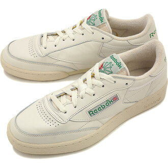 look out for run shoes for whole family Reebok classics men's women's sneaker Club Champion 85 vintage Reebok  CLASSIC CLUB C 85 VINTAGE CHALK/PAPERWHITE/GLEN GREEN/EXCLINT RED (V67899  SS16)