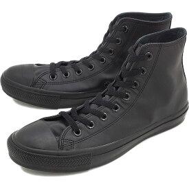 コンバース レザー オールスター ハイカット CONVERSE LEA ALL STAR HI ブラックモノクローム 靴 [32044997][e]