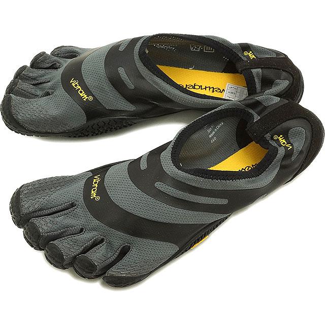 Vibram FiveFingers ビブラムファイブフィンガーズ メンズ EL-X イーエルエックス Gray/Black ビブラム ファイブフィンガーズ 5本指シューズ ベアフット靴 (16M0101)【コンビニ受取対応商品】