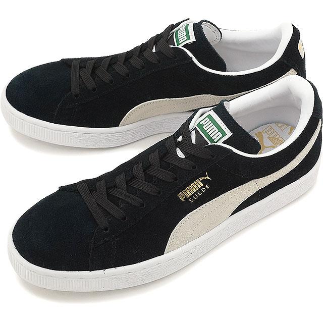 【即納】PUMA プーマ スニーカー 靴 メンズ レディース SUEDE CLASSIC+ スウェード クラシック プラス BLCK/WHITE (352634-03)【br】【コンビニ受取対応商品】