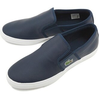 Lacoste men's sneakers slip-on Gazon sports LACOSTE GAZON SPORT 116 2 NVY [MSI017-003 SS16Q1]