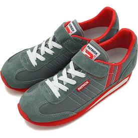 【定番モデル】【返品・交換可】パトリック ジュニア PATRICK スニーカー MARATHON-V マラソン・ベルクロ インファント 子供 日本製 靴 GRY グレー 灰 [EN7524-J]