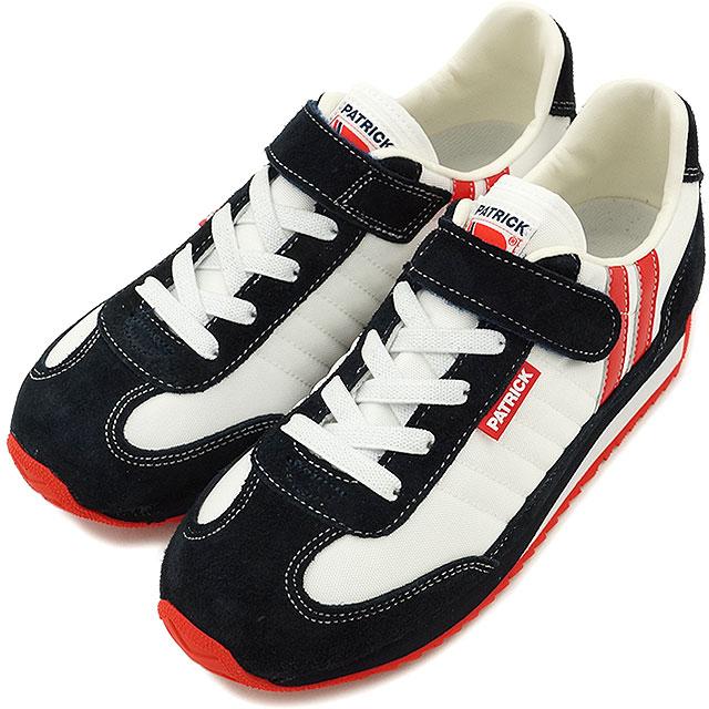 【即納】【ジュニアサイズ】パトリック スニーカー インファント 靴 マラソン・ベルクロ PATRICK MARATHON-V W/N (EN7700-J SS16)【コンビニ受取対応商品】