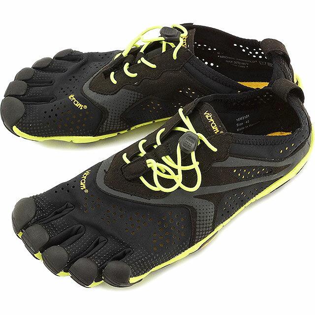 【即納】Vibram FiveFingers ビブラムファイブフィンガーズ メンズ V-Run Black/Yellow ビブラム ファイブフィンガーズ 5本指シューズ ベアフット靴 [16M3101]