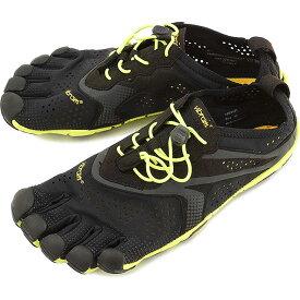 Vibram FiveFingers ビブラムファイブフィンガーズ メンズ V-Run Black/Yellow ビブラム ファイブフィンガーズ 5本指シューズ ベアフット靴 [16M3101]