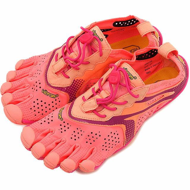 Vibram FiveFingers ビブラムファイブフィンガーズ レディース V-Run Pink/Red ビブラム ファイブフィンガーズ 5本指シューズ ベアフット ウィメンズ 靴 (16W3106)【コンビニ受取対応商品】