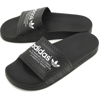 Adiliette 阿迪达斯阿迪达斯原件原件 ADILETTE 核心块/核心黑色 / 运行白色淋浴凉鞋男装女装 S78689 SS16