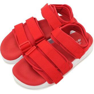 阿迪达斯原始物煤尘陷井凉鞋adidas Originals ADILETTE SANDAL W阿迪莱塔妇女高峰红/高峰红/跑步白S75380 SS16