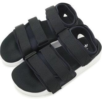 阿迪达斯原件 adiliette 阿迪达斯原件 ADILETTE 凉鞋 W 皮带凉鞋女性芯块/核心黑色 / 运行白色 S75382 SS16