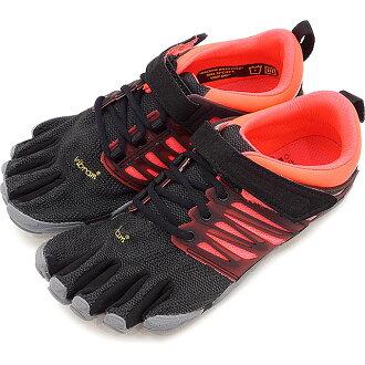 Five Vibram FiveFingers vibram five finger gap Dis WMNS V-TRAIN BLACK/CORAL/GREY vibram five fingers finger shoes base-up feet (17W6604)