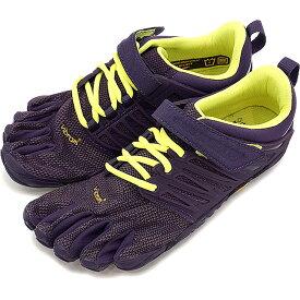 【1/31まで!ポイント10倍】Vibram FiveFingers ビブラムファイブフィンガーズ レディース WMNS V-TRAIN NIGHTSHADE/S.YELLOW ビブラム ファイブフィンガーズ 5本指シューズ ベアフット 靴 [17W6606]