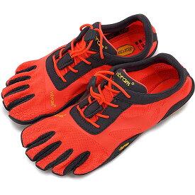 【4/5限定!楽天カードでP19倍】Vibram FiveFingers ビブラムファイブフィンガーズ レディース WMNS KSO EVO F.CORAL/GREY ビブラム ファイブフィンガーズ 5本指シューズ ベアフット 靴 [17W0701]