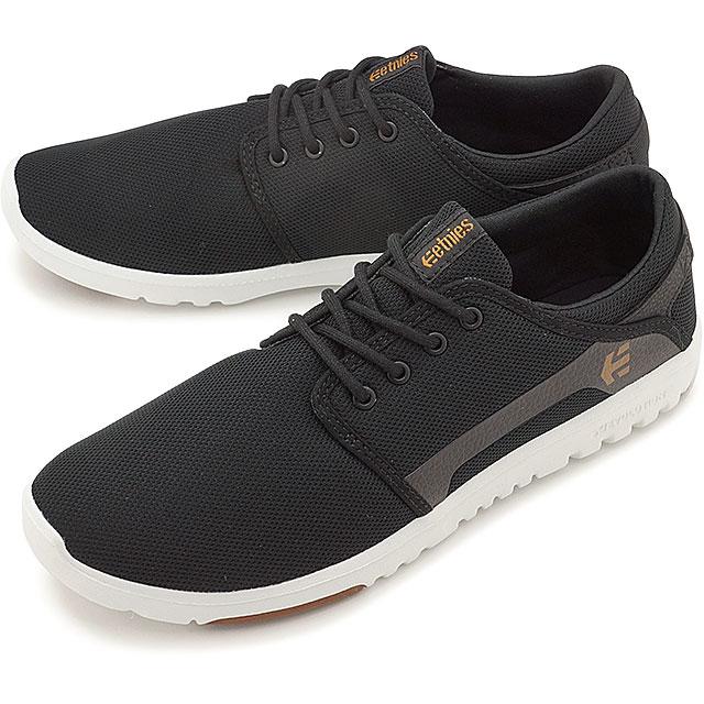 ETNIES エトニーズ スニーカー 靴 スケシュー SCOUT スカウト BLACK/WHITE/GUM メンズ レディース (SS17)【コンビニ受取対応商品】