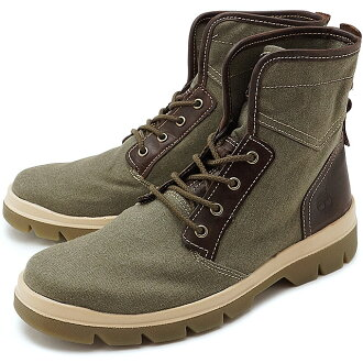 Timberland timbarandomenzubutsu City Blazer Fabric and Leather Boot城運動衣纖維和皮革長筒靴Olive Canvas/Full-Grain(A1GG7 SS17)