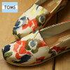 TOMS 틈스레디스 WOMENS SEASONAL CLASSICS 시즈나르크라식스스립폰캐바스 T.Watercolor Floral (10009761 SS17)