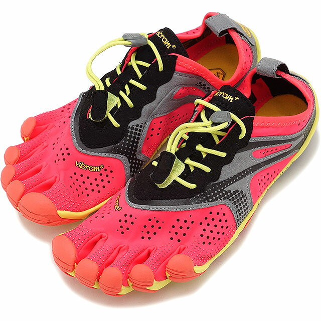 Vibram FiveFingers ビブラムファイブフィンガーズ レディース ランニングモデル WMN V-RUN FIERY CORAL ビブラム ファイブフィンガーズ 5本指シューズ ベアフット 靴 [17W7004]