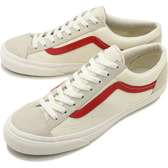 VANS卡車運動鞋人Style 36 OLD SKOOL風格36老學校Marshmallow/Racing Red(VN0A3DZ3OXS SS17)