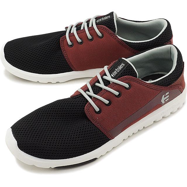 【50%OFF】【在庫限り】ETNIES エトニーズ スニーカー 靴 スケシュー SCOUT スカウト BLACK/RED/GREY メンズ レディース (SS17)【ts】【e】【コンビニ受取対応商品】