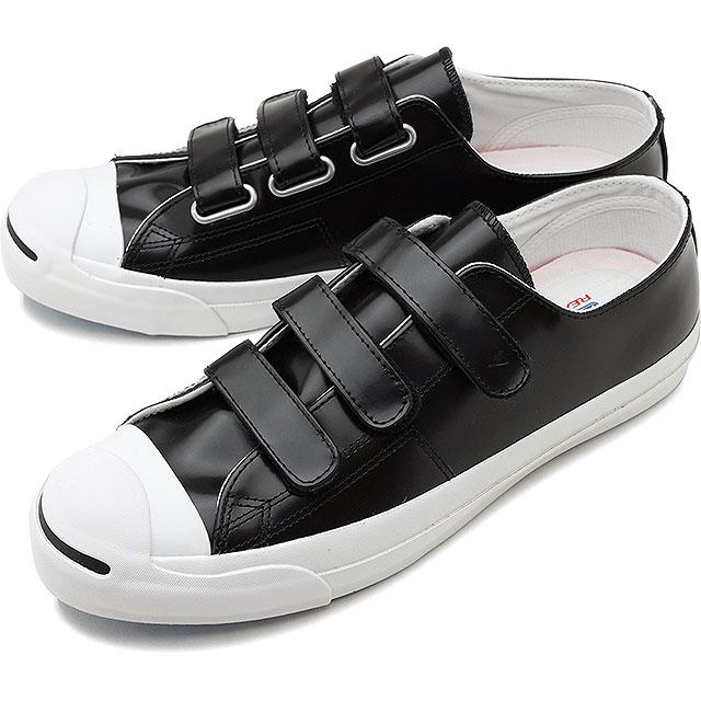 【40%OFF】【在庫限り】CONVERSE コンバース スニーカー 靴 メンズ・レディース JACK PURCELL V-3 CG LEATHER R ジャックパーセル ベルクロ V-3 CG レザー R ブラック (32243321 SS18)【e】【ts】【コンビニ受取対応商品】