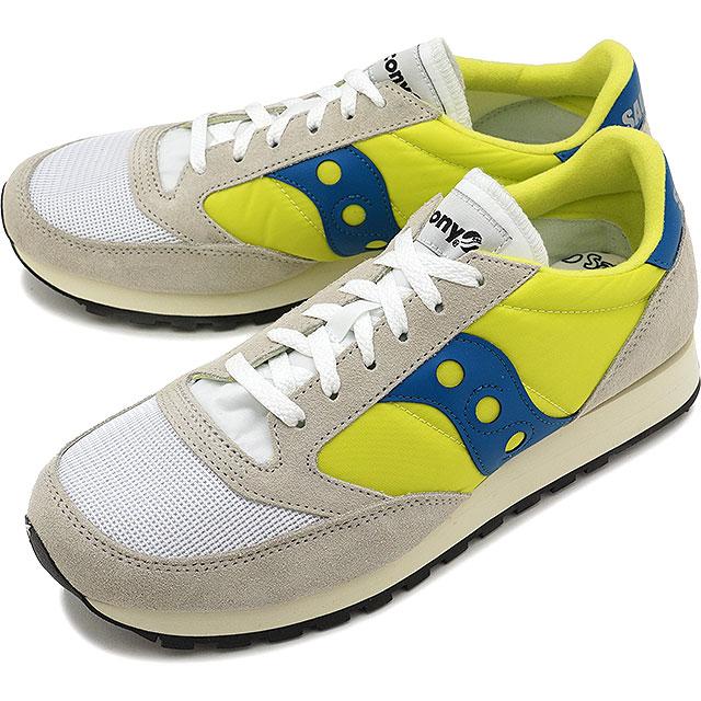 【40%OFF】【ラスト1足/26.0cm】Saucony サッカニー スニーカー 靴 メンズ JAZZ VINTAGE ジャズ ビンテージ White/Neon Yellow (S70368-18 SS18)【ts】【e】【コンビニ受取対応商品】