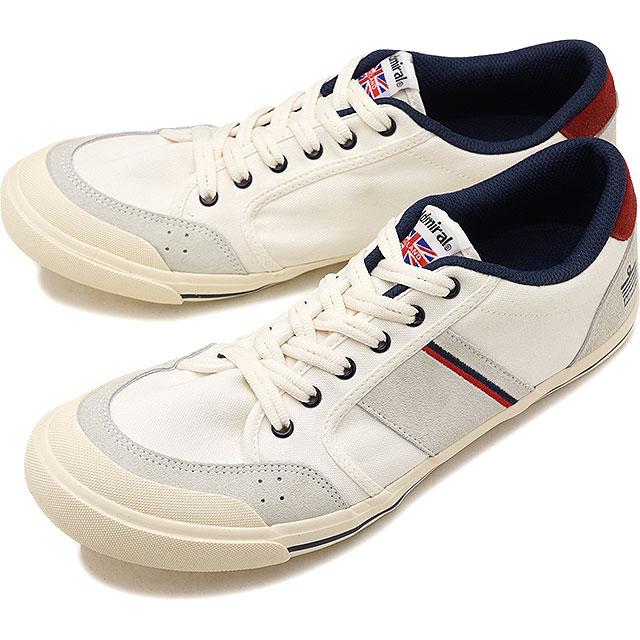 【即納】Admiral アドミラル スニーカー 靴 INOMER イノマー Ivory/Navy/Red(SJAD1509-341004)【e】