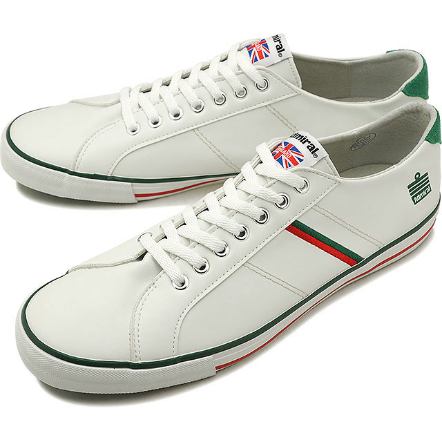 【即納】Admiral アドミラル スニーカー 靴 WATFORD ワトフォード White/Red/Green(SJAD0705-010406)【e】