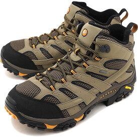 MERRELL メレル メンズ スニーカー 靴 MEN MOAB2 MID GORE-TEX WIDE WIDTH モアブ2 ミッド ゴアテックス ワイドワイズ WALNUT [06057W SS18]