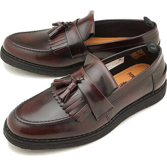 FRED PERRY Fred Perry sneakers shoes men Lady's FP X GEORGE COX TASSEL LOAFER LEATHER George coxswain tassel loafer leather OX BLOOD (B8278-158 SS18)