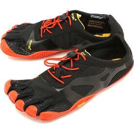 【1/31まで!ポイント10倍】ビブラムファイブフィンガーズ メンズ Vibram FiveFingers ジム フィットネス カジュアル向け 5本指シューズ KSO EVO ベアフット Black/Red 靴 [18M0701 SS18]