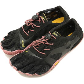 【1/31まで!ポイント10倍】ビブラムファイブフィンガーズ レディース Vibram FiveFingers ジム フィットネス カジュアル向け 5本指シューズ KSO EVO ベアフット Black/Rose 靴 [18W0701 SS18]
