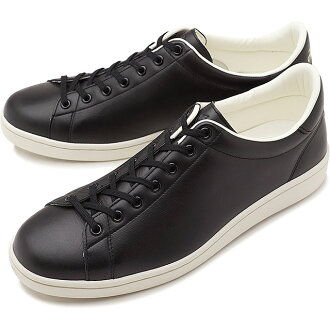 FRED PERRY Fred Perry sneakers shoes men Lady's BREAUX LEATHER blow leather BLACK (F19682-07 SS18)