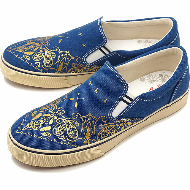 【30%OFF】【在庫限り】INDIAN インディアン スニーカー 靴 メンズ・レディース Ollis オリーズ BLUE/GOLD (IND-12266 IND-11266 SS18)【ts】【e】【コンビニ受取対応商品】
