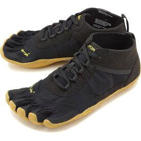 【1/31まで!ポイント10倍】ビブラムファイブフィンガーズ メンズ Vibram FiveFingers ハイキング アウトドア カジュアル向け 5本指シューズ V-TREK ベアフット 靴 Black/Gum [18M7401 SS18]