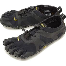 ビブラムファイブフィンガーズ メンズ Vibram FiveFingers オールラウンド アウトドア 5本指シューズ V-ALPHA ベアフット 靴 Black [18M7101 SS18]