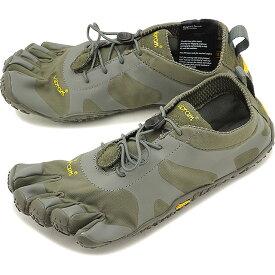 【1/31まで!ポイント10倍】ビブラムファイブフィンガーズ メンズ Vibram FiveFingers オールラウンド アウトドア 5本指シューズ V-ALPHA ベアフット 靴 Military/Dark Grey [18M7103 SS18]