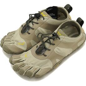 【1/31まで!ポイント10倍】ビブラムファイブフィンガーズ レディース Vibram FiveFingers オールラウンド アウトドア 5本指シューズ V-ALPHA ベアフット 靴 Sand/Khaki [18W7104 SS18]